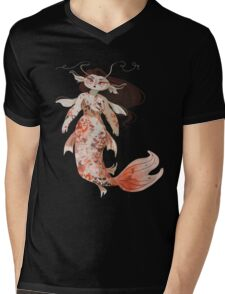 Koi Pond Mermaid Mens V-Neck T-Shirt