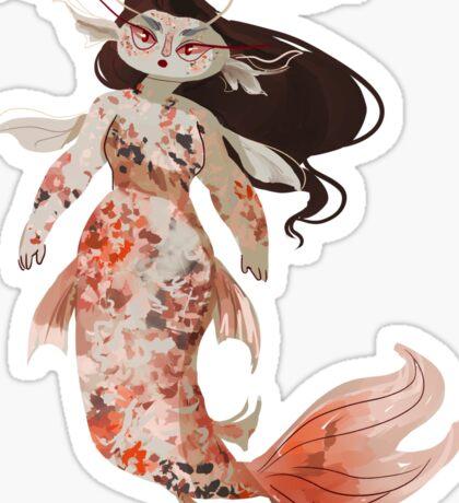 Koi Pond Mermaid Sticker