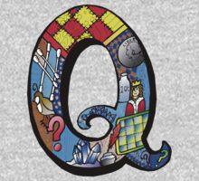 Doodle Letter Q One Piece - Long Sleeve