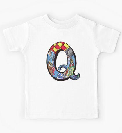 Doodle Letter Q Kids Tee