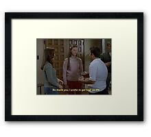 milly//freaks and geeks Framed Print