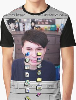 Dan Howell crying Windows 96 Graphic T-Shirt