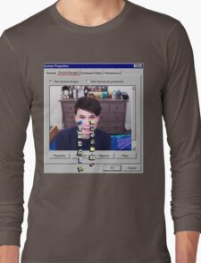 Dan Howell crying Windows 96 Long Sleeve T-Shirt