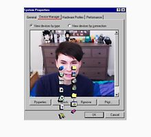 Dan Howell crying Windows 96 Womens Fitted T-Shirt