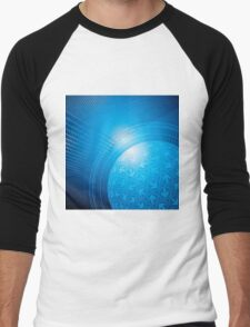Blue Abstract Background Men's Baseball ¾ T-Shirt