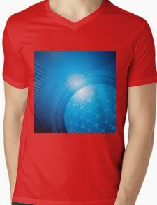 Blue Abstract Background Mens V-Neck T-Shirt