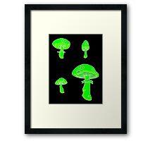 glowing fungus Framed Print
