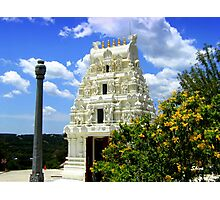 Hindu Temple in Texas Photographic Print