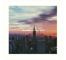 Taylor Swift Welcome to New York Lyric Art Print