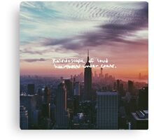 Taylor Swift Welcome to New York Lyric Canvas Print