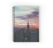 Taylor Swift Welcome to New York Lyric Spiral Notebook