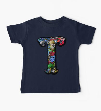 Doodle Letter T Baby Tee