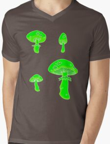 glowing fungus Mens V-Neck T-Shirt