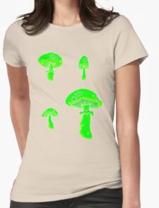 glowing fungus Womens Fitted T-Shirt