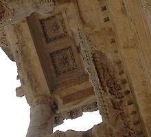 Carved Ceiling of Rosettes and Garlands Ephesus Turkey by taiche
