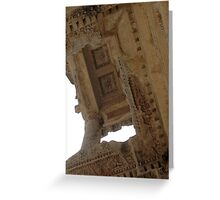 Carved Ceiling of Rosettes and Garlands Ephesus Turkey Greeting Card