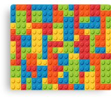 Lego Pattern Canvas Print
