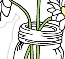 Mason Jar with Sunflowers Sticker