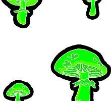 glowing fungus by HiddenStash