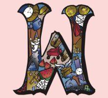 Doodle Letter W Kids Tee