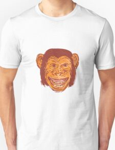 Chimpanzee Head Front Isolated Drawing T-Shirt