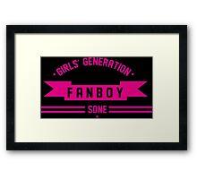 GIRLS GENERATION FANBOY Framed Print