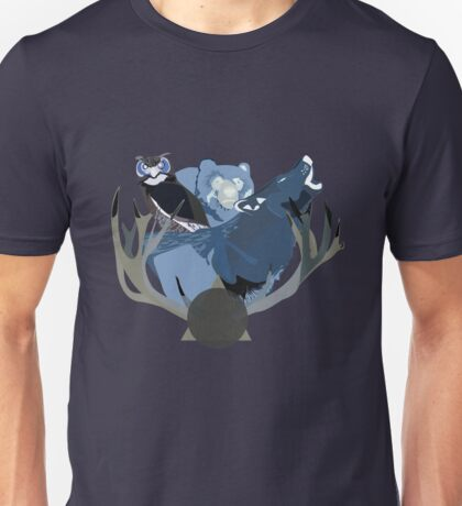 Inverted Forest Animals Unisex T-Shirt