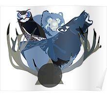 Inverted Forest Animals Poster