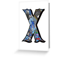 Doodle Letter X Greeting Card