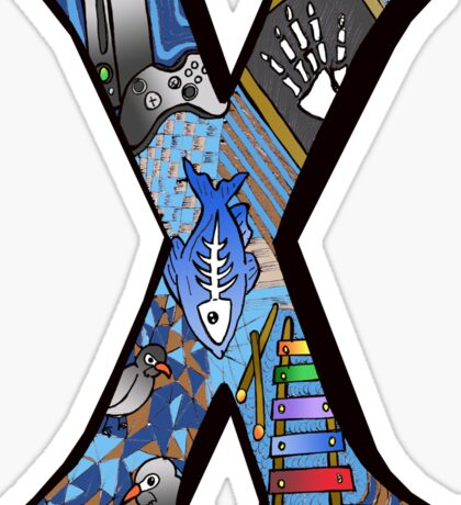 Doodle Letter X Sticker