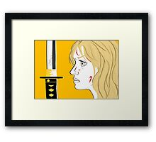 Kill Bill Sword (Transparent) Framed Print
