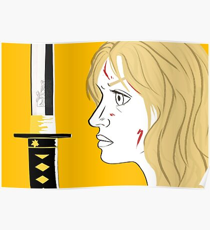 Kill Bill Sword (Transparent) Poster