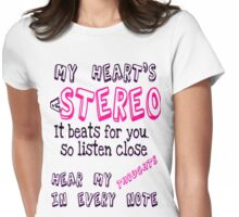 Stereo Hearts Womens Fitted T-Shirt