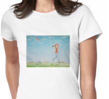 Flying kite Womens Fitted T-Shirt