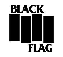 Black Flag Dope Logo Photographic Print