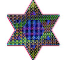 Star of David Psychedelic Photographic Print