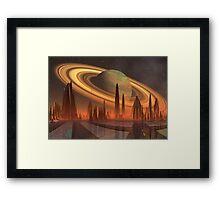 Futuristic Alien City - Computer Artwork Framed Print