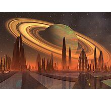 Futuristic Alien City - Computer Artwork Photographic Print