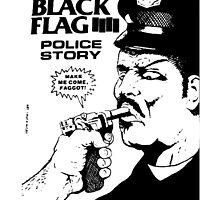Black Flag Police Story Cool Merch by manekineko58