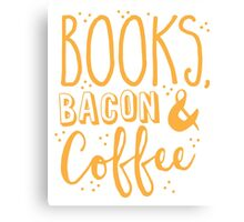 Books, Bacon and coffee Canvas Print