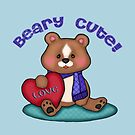 Beary Cute Teddy Bear Art Design by Jamie Wogan Edwards