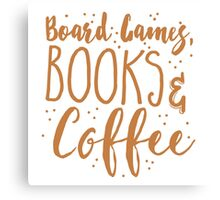 Board games books and coffee Canvas Print