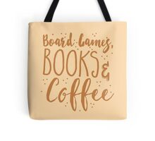 Board games books and coffee Tote Bag