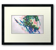 Watercolor Rengar League of Legends Framed Print