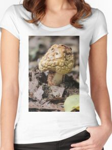 mushroom in the forest Women's Fitted Scoop T-Shirt