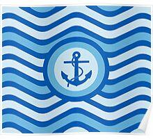 Blue Anchor Sailor Design Poster