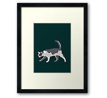 Slinky Grey Cat Framed Print