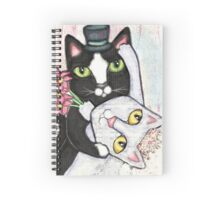 Wedding Dance Bridal Cat Couple Design Spiral Notebook