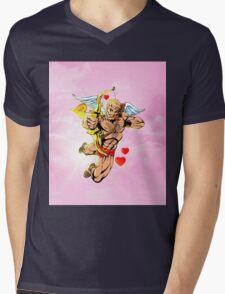 Valentine Cupid Hunk Mens V-Neck T-Shirt