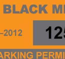 Black mesa parking permit Sticker